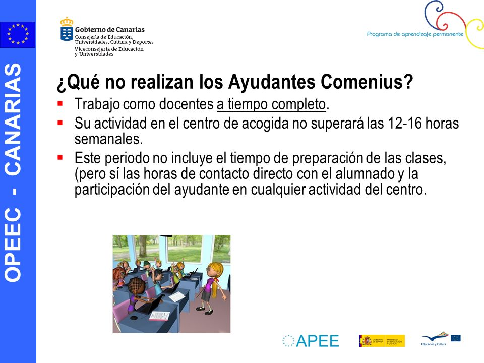 ¿Qué no realizan los Ayudantes Comenius