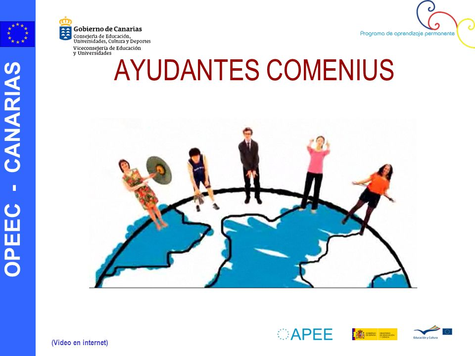AYUDANTES COMENIUS (Video en internet)
