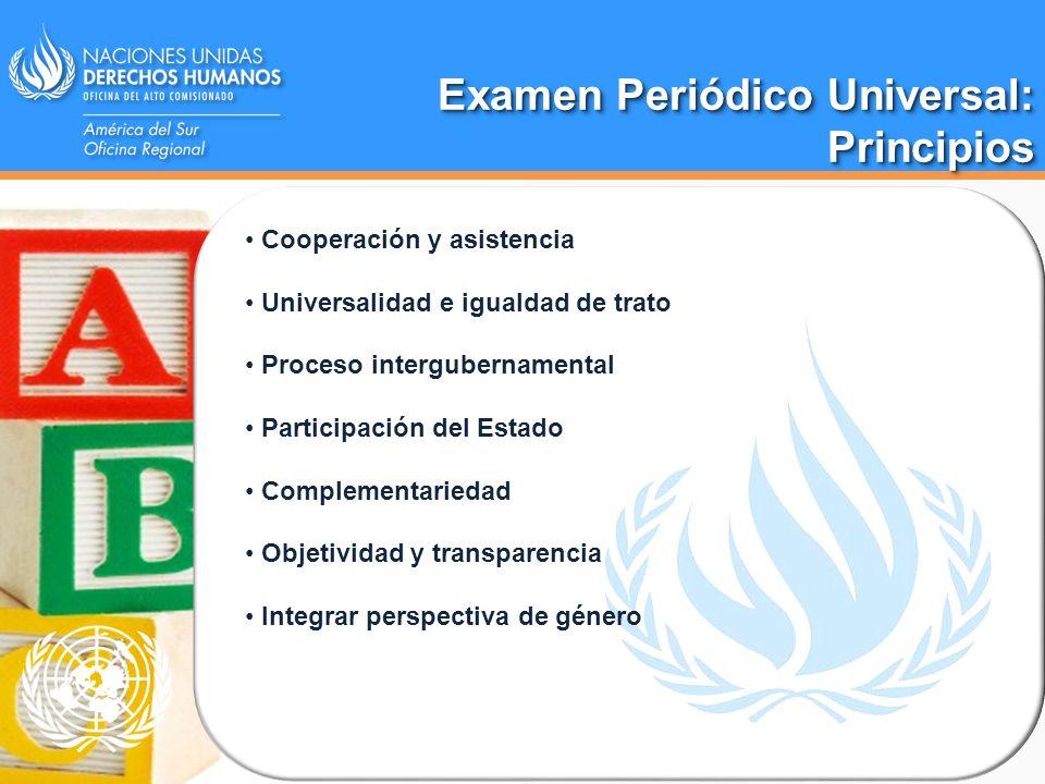 Examen Periódico Universal: Principios