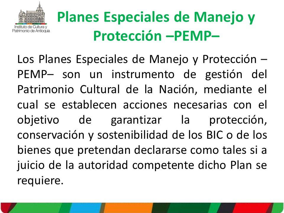 Planes Especiales de Manejo y Protección –PEMP–
