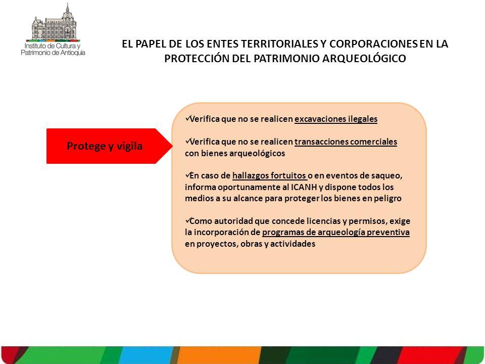 EL PAPEL DE LOS ENTES TERRITORIALES Y CORPORACIONES EN LA PROTECCIÓN DEL PATRIMONIO ARQUEOLÓGICO