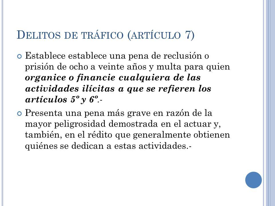 Delitos de tráfico (artículo 7)