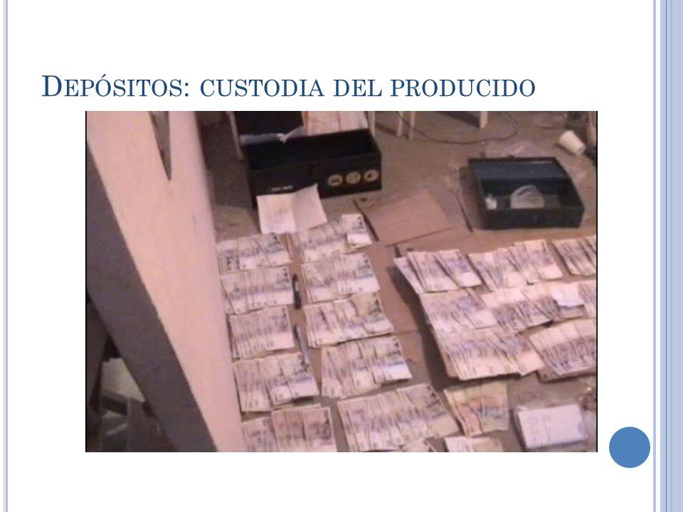Depósitos: custodia del producido