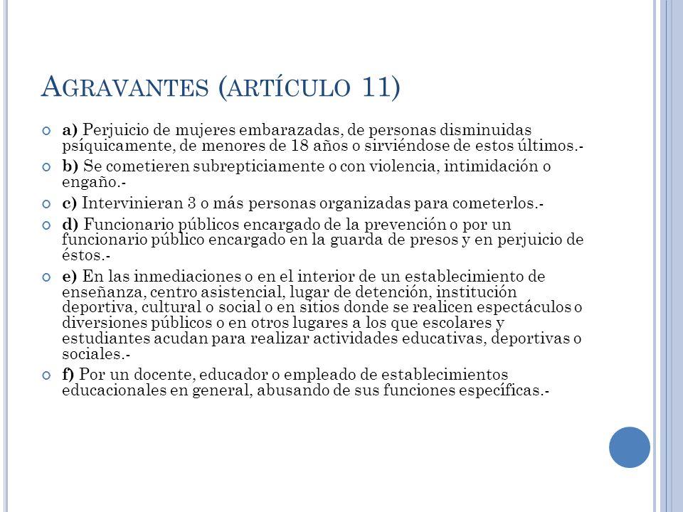 Agravantes (artículo 11)