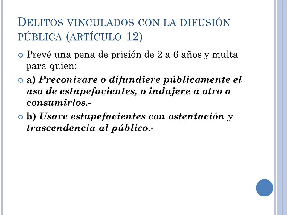 Delitos vinculados con la difusión pública (artículo 12)