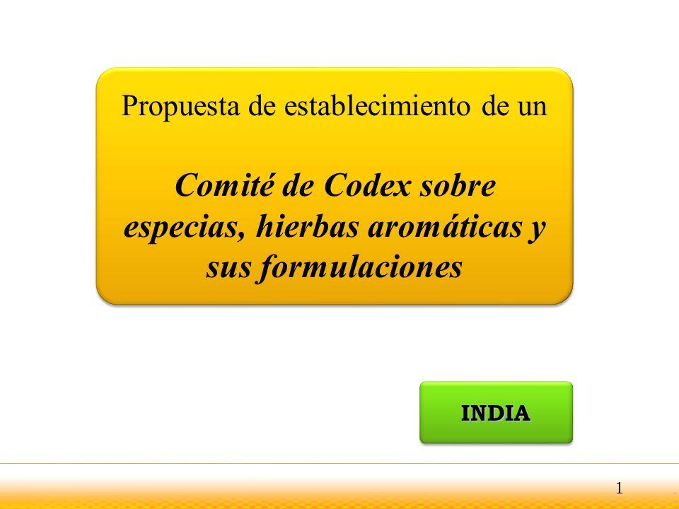 Comité de Codex sobre especias, hierbas aromáticas y sus formulaciones