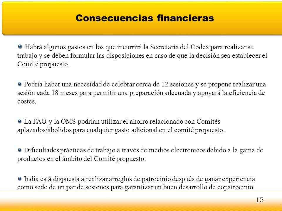Consecuencias financieras