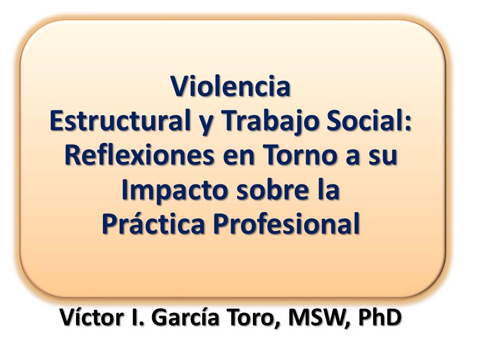 Víctor I. García Toro, MSW, PhD