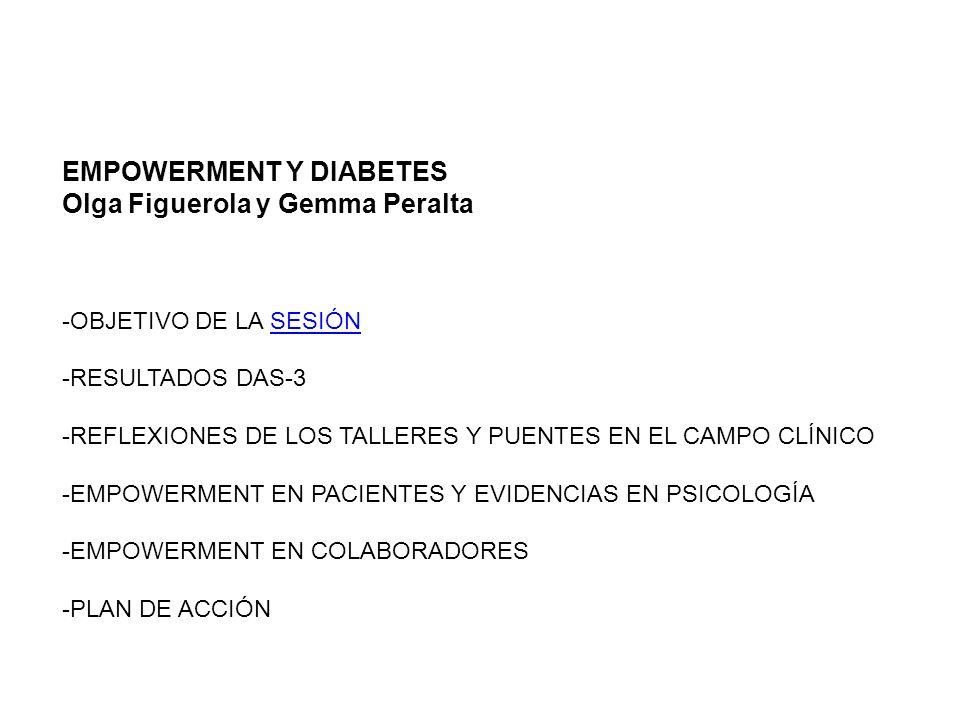 EMPOWERMENT Y DIABETES Olga Figuerola y Gemma Peralta