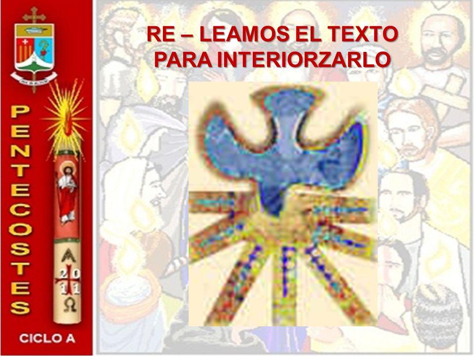 RE – LEAMOS EL TEXTO PARA INTERIORZARLO