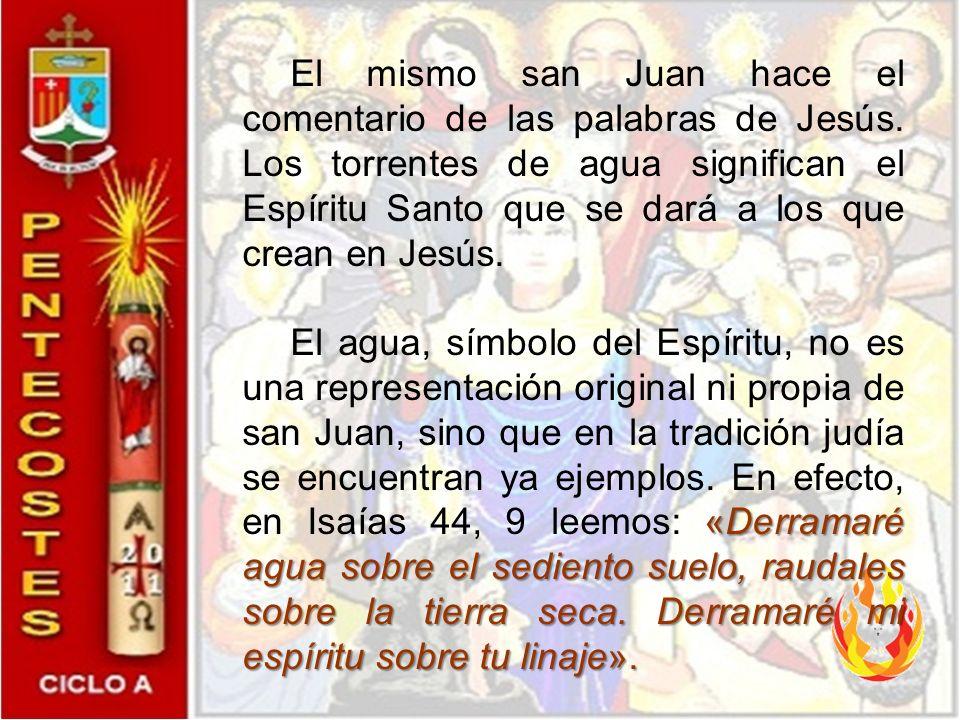 El mismo san Juan hace el comentario de las palabras de Jesús