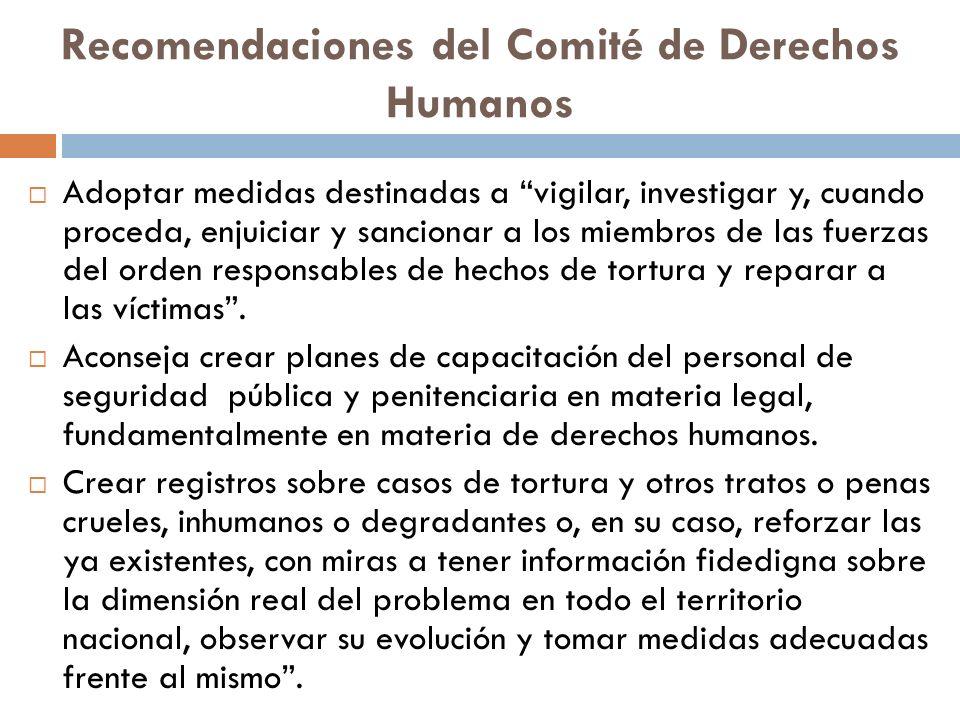 Recomendaciones del Comité de Derechos Humanos