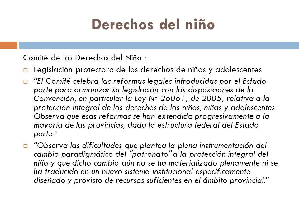 Derechos del niño Comité de los Derechos del Niño :