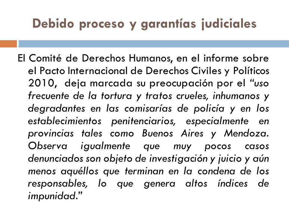 Debido proceso y garantías judiciales