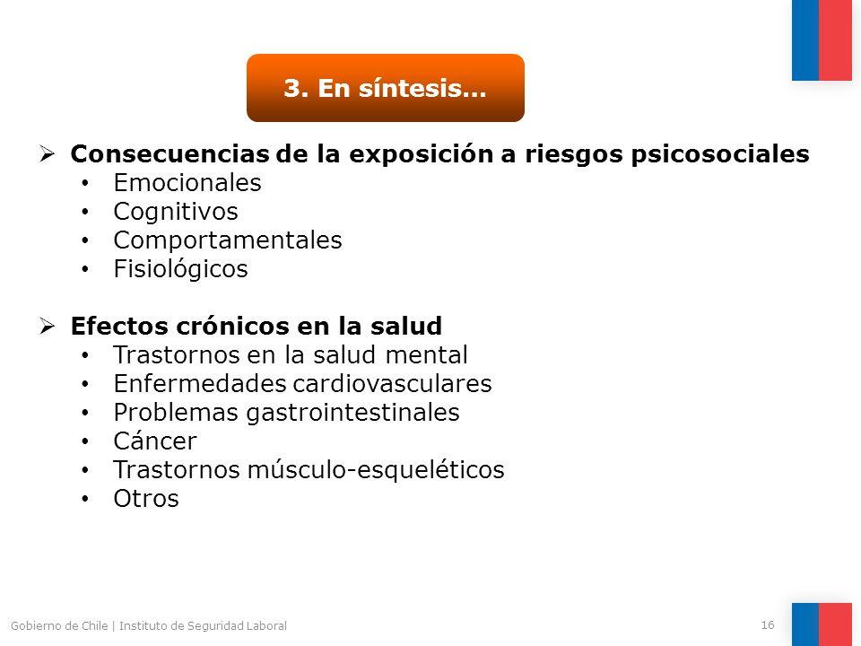 Consecuencias de la exposición a riesgos psicosociales Emocionales