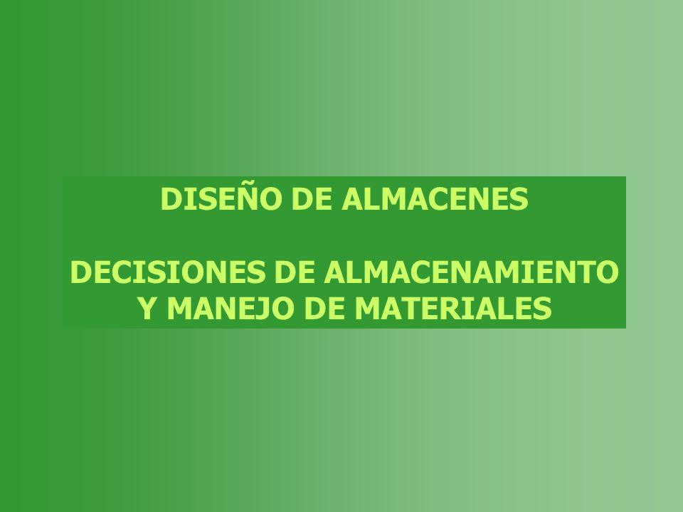 DECISIONES DE ALMACENAMIENTO
