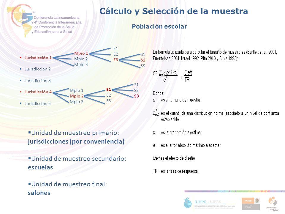 Cálculo y Selección de la muestra