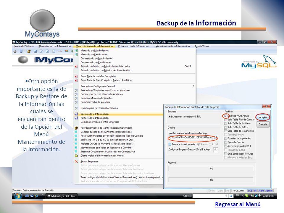 Backup de la Información