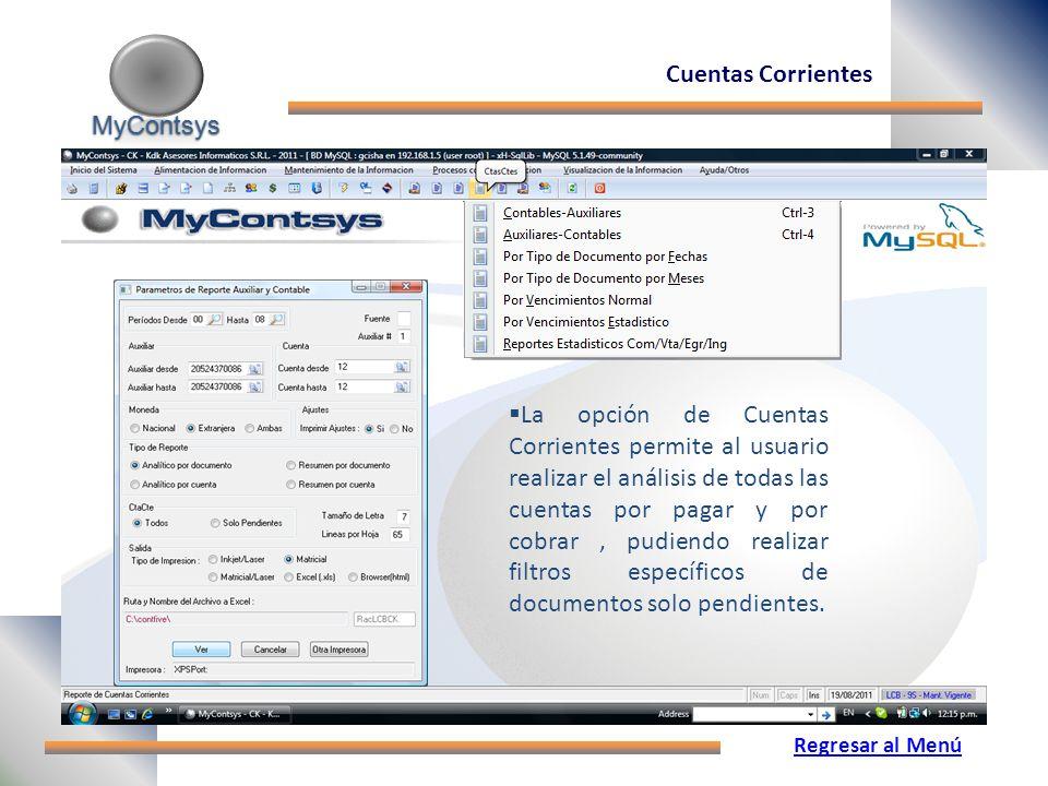 Cuentas Corrientes MyContsys