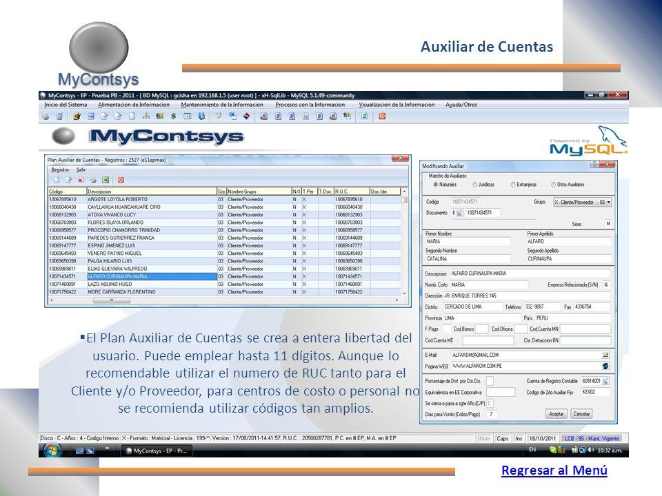 Auxiliar de Cuentas MyContsys