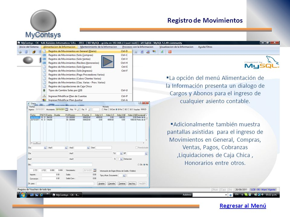 Registro de Movimientos
