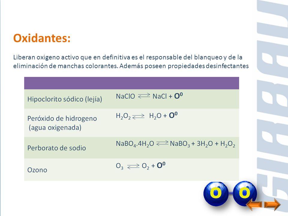 Oxidantes: