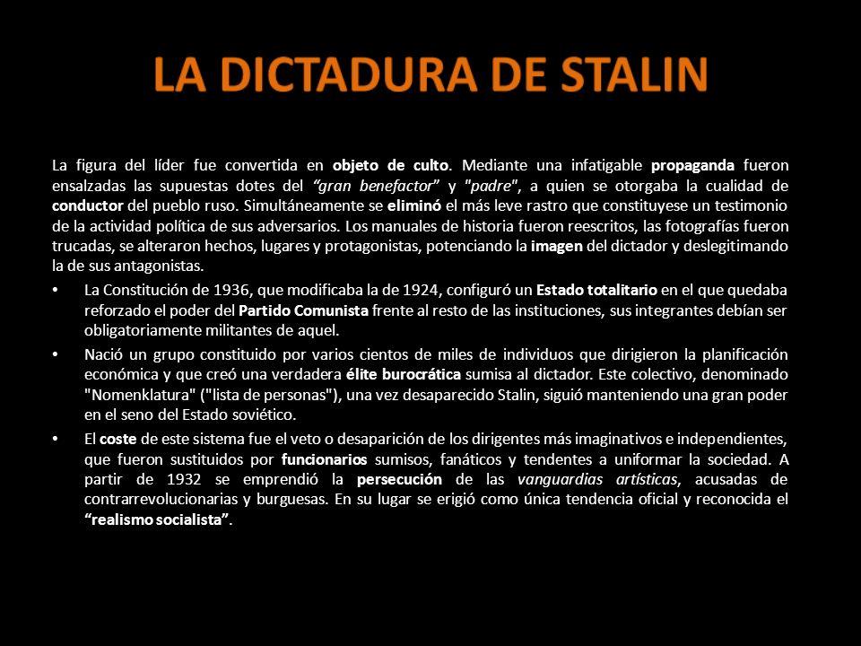 LA DICTADURA DE STALIN
