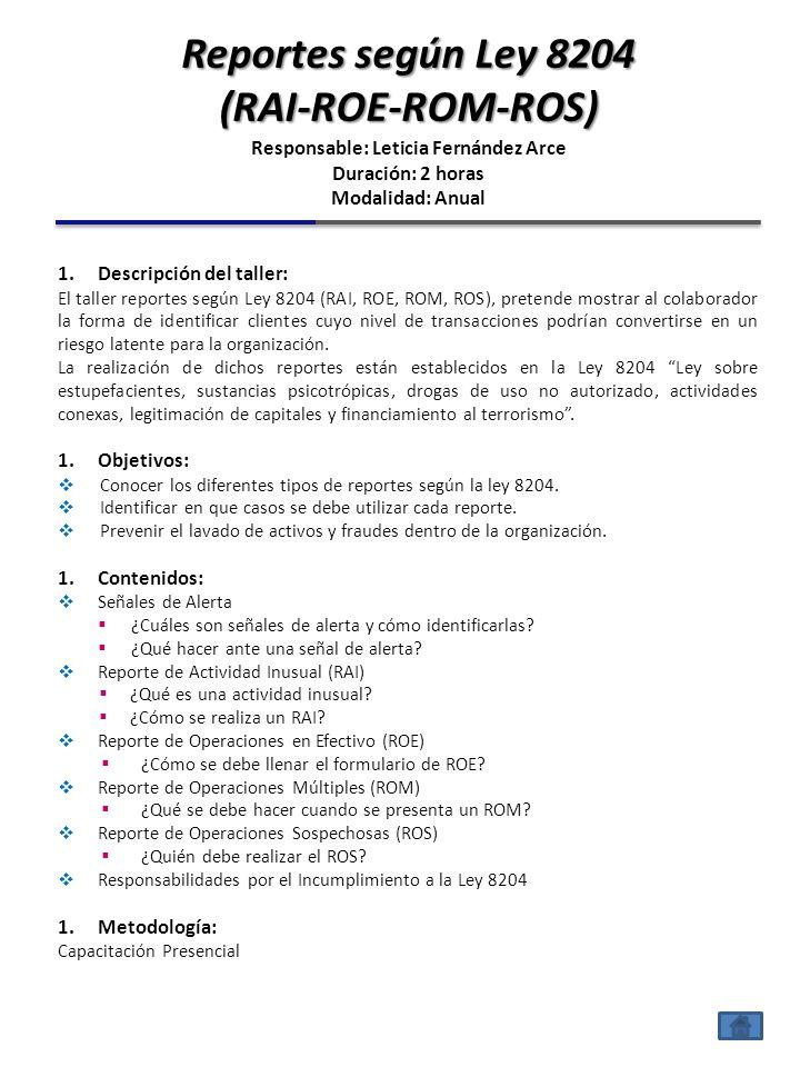 Responsable: Leticia Fernández Arce