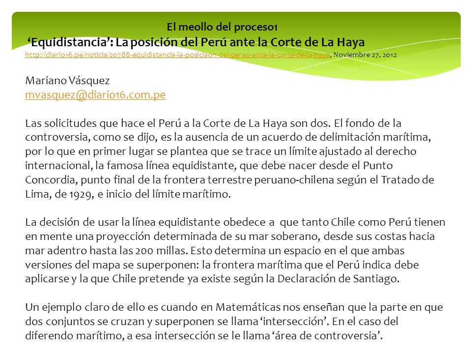'Equidistancia': La posición del Perú ante la Corte de La Haya