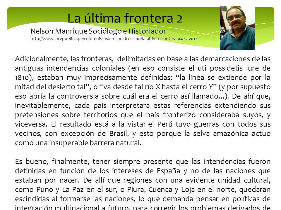 La última frontera 2 Nelson Manrique Sociólogo e Historiador