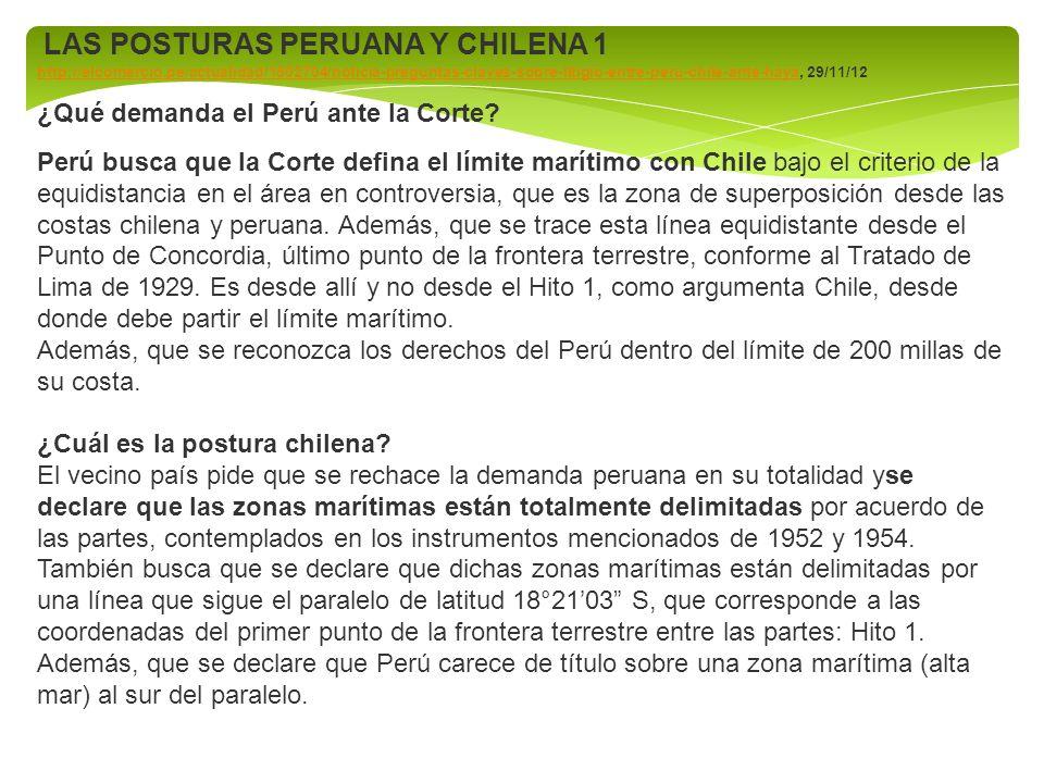 LAS POSTURAS PERUANA Y CHILENA 1