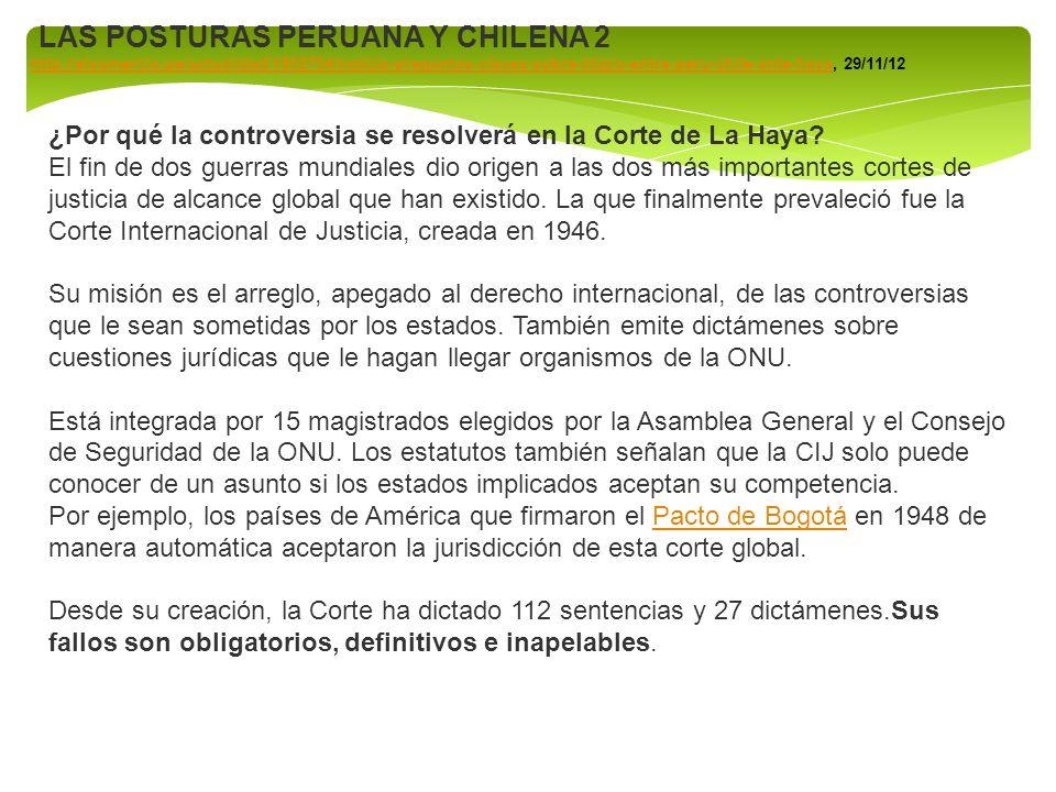 LAS POSTURAS PERUANA Y CHILENA 2
