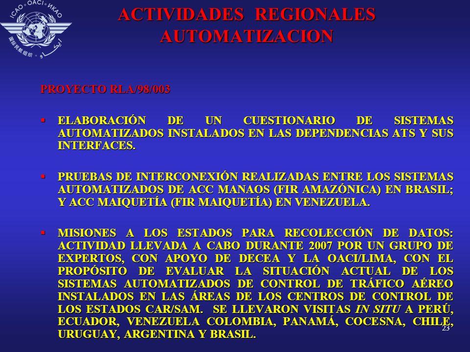 ACTIVIDADES REGIONALES AUTOMATIZACION