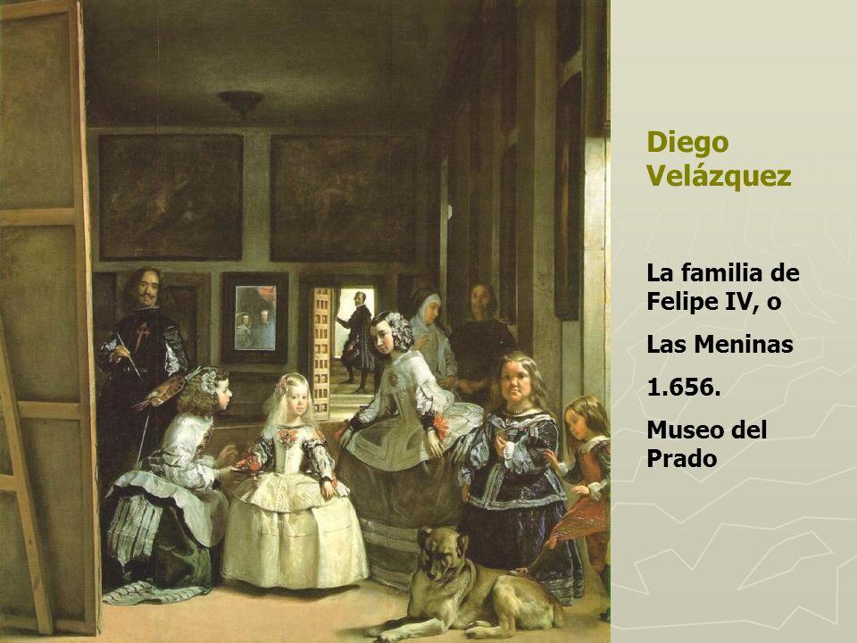 Diego Velázquez La familia de Felipe IV, o Las Meninas 1.656.