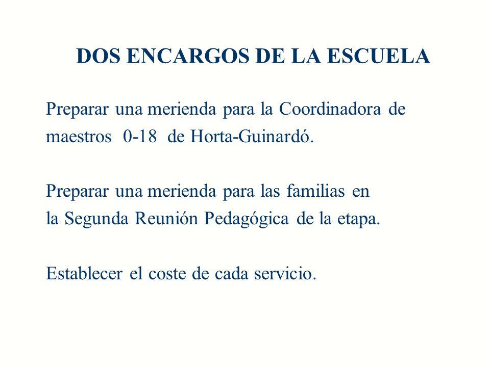 DOS ENCARGOS DE LA ESCUELA