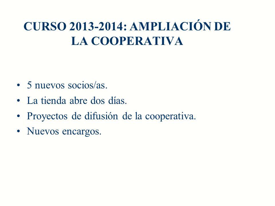 CURSO 2013-2014: AMPLIACIÓN DE LA COOPERATIVA