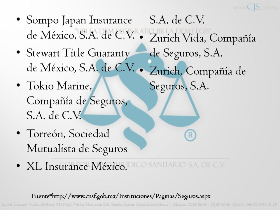 Sompo Japan Insurance de México, S.A. de C.V.