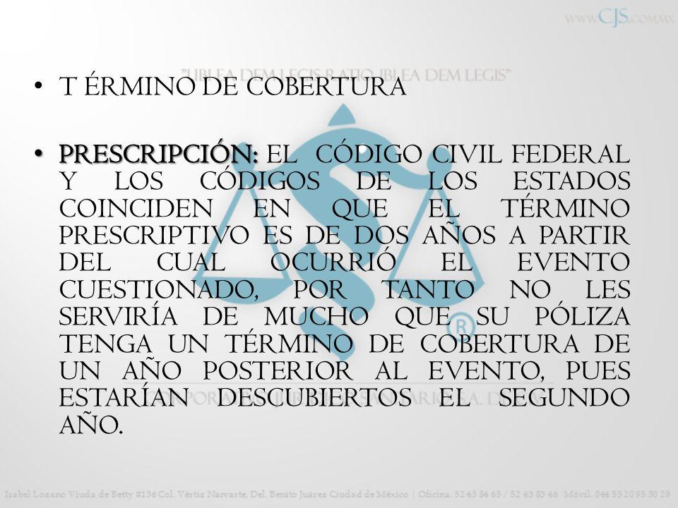 T ÉRMINO DE COBERTURA