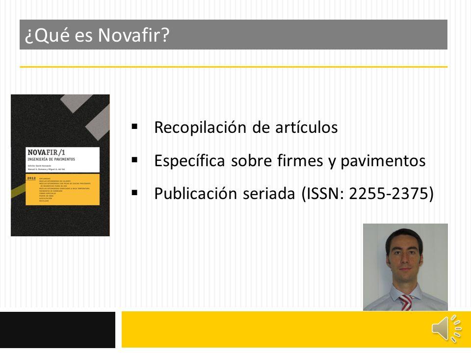 ¿Qué es Novafir Recopilación de artículos