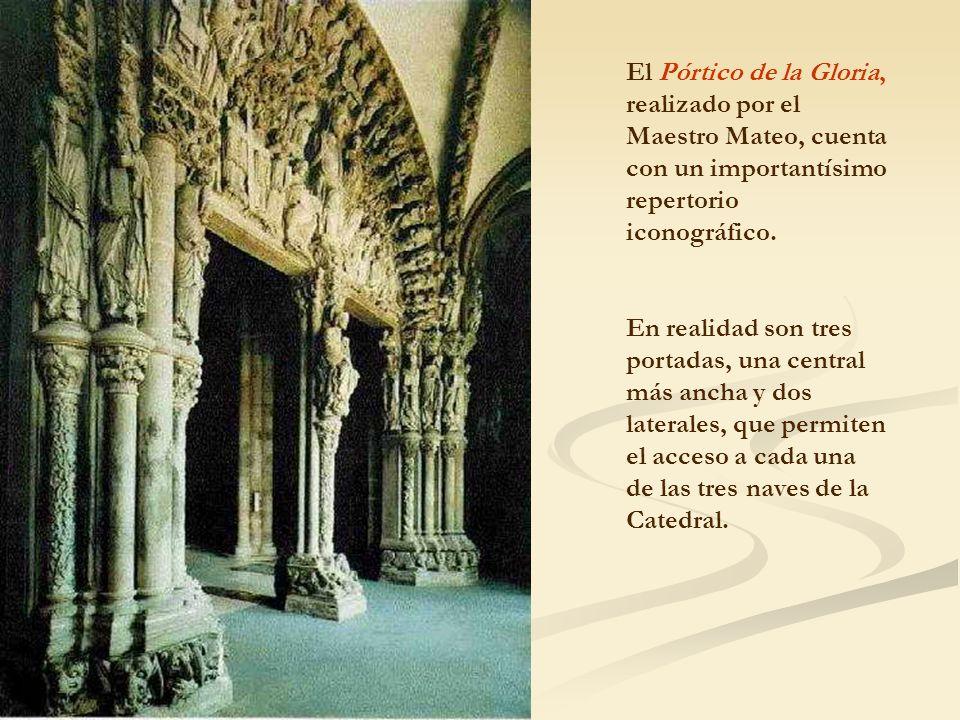 El Pórtico de la Gloria, realizado por el Maestro Mateo, cuenta con un importantísimo repertorio iconográfico.