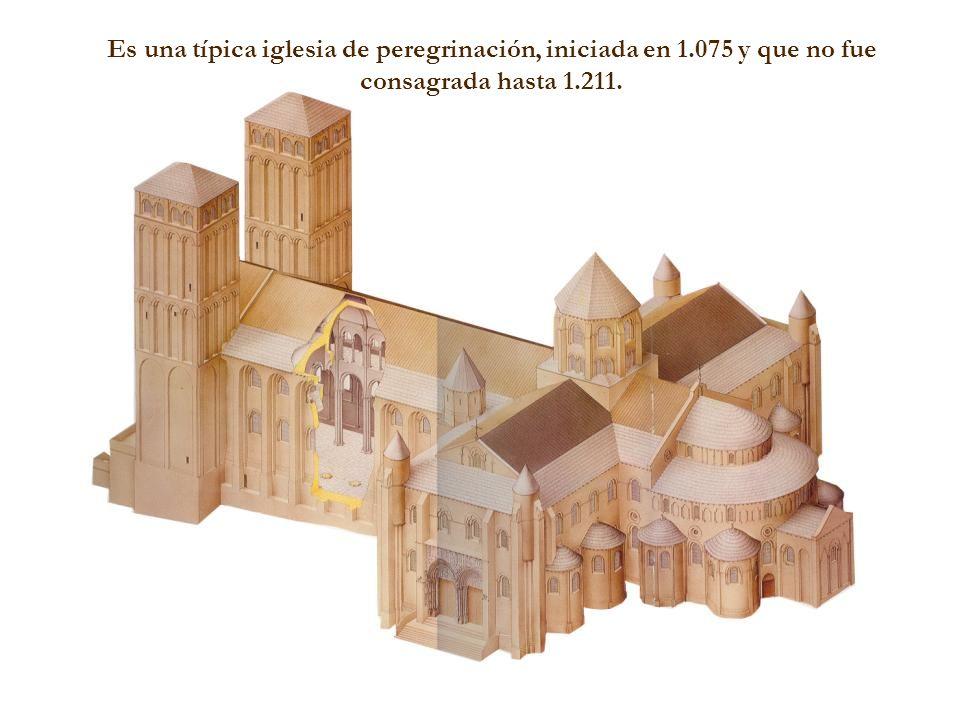 Es una típica iglesia de peregrinación, iniciada en 1