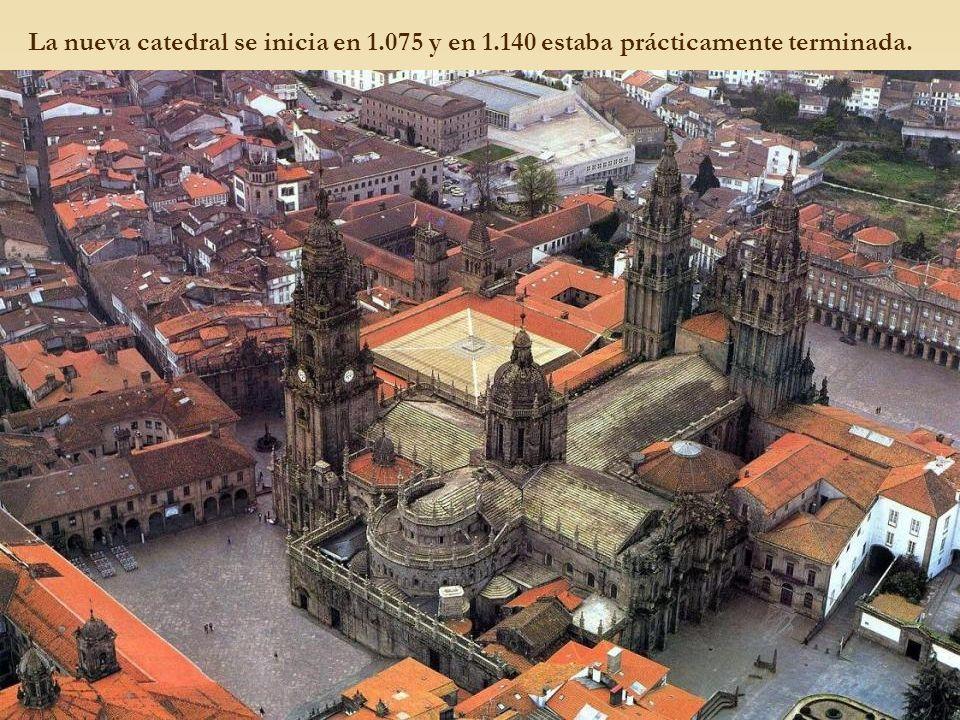 La nueva catedral se inicia en 1. 075 y en 1