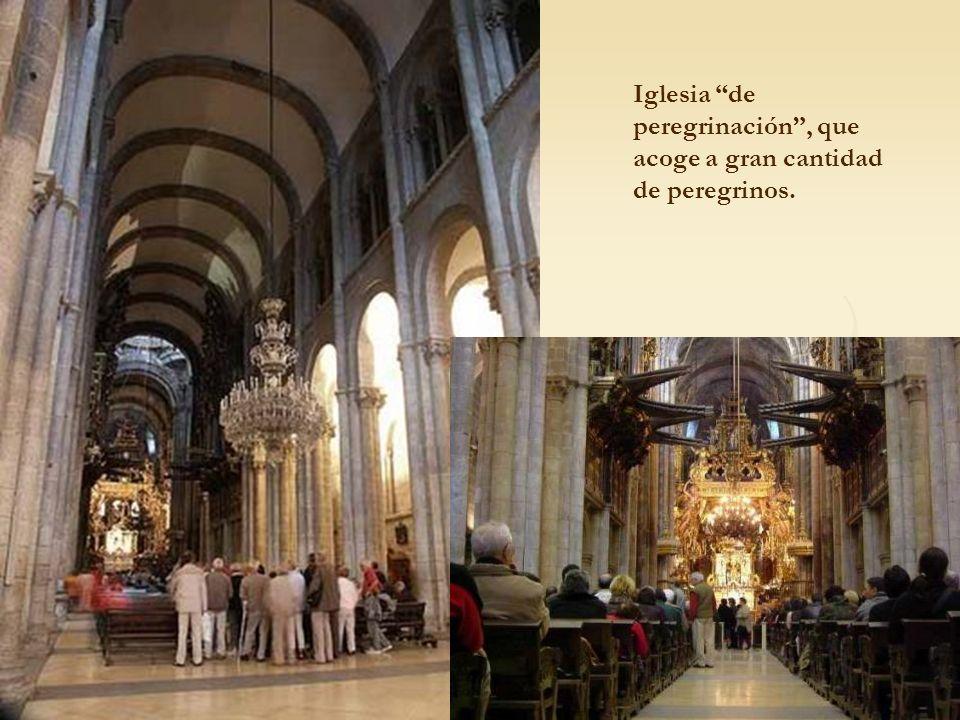 Iglesia de peregrinación , que acoge a gran cantidad de peregrinos.