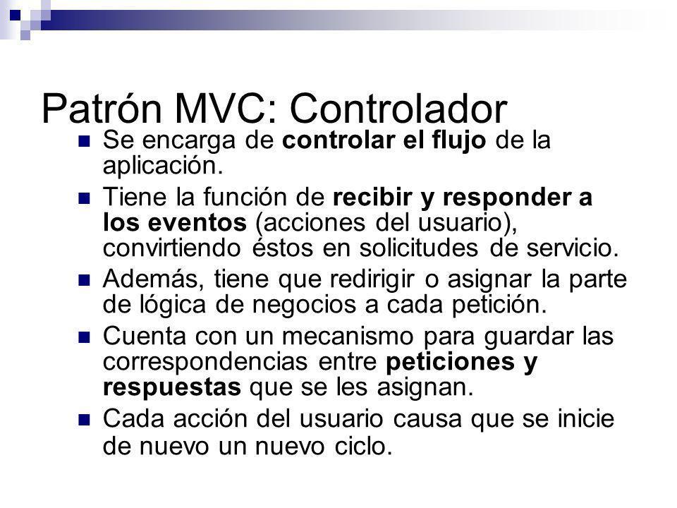 Patrón MVC: Controlador