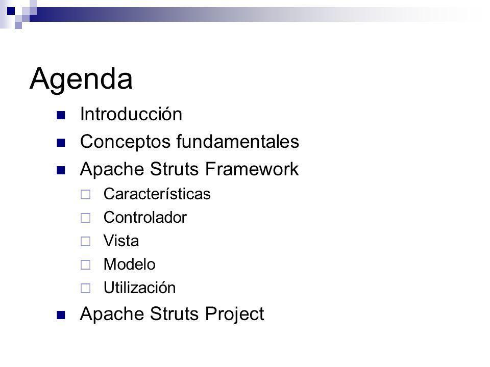 Agenda Introducción Conceptos fundamentales Apache Struts Framework