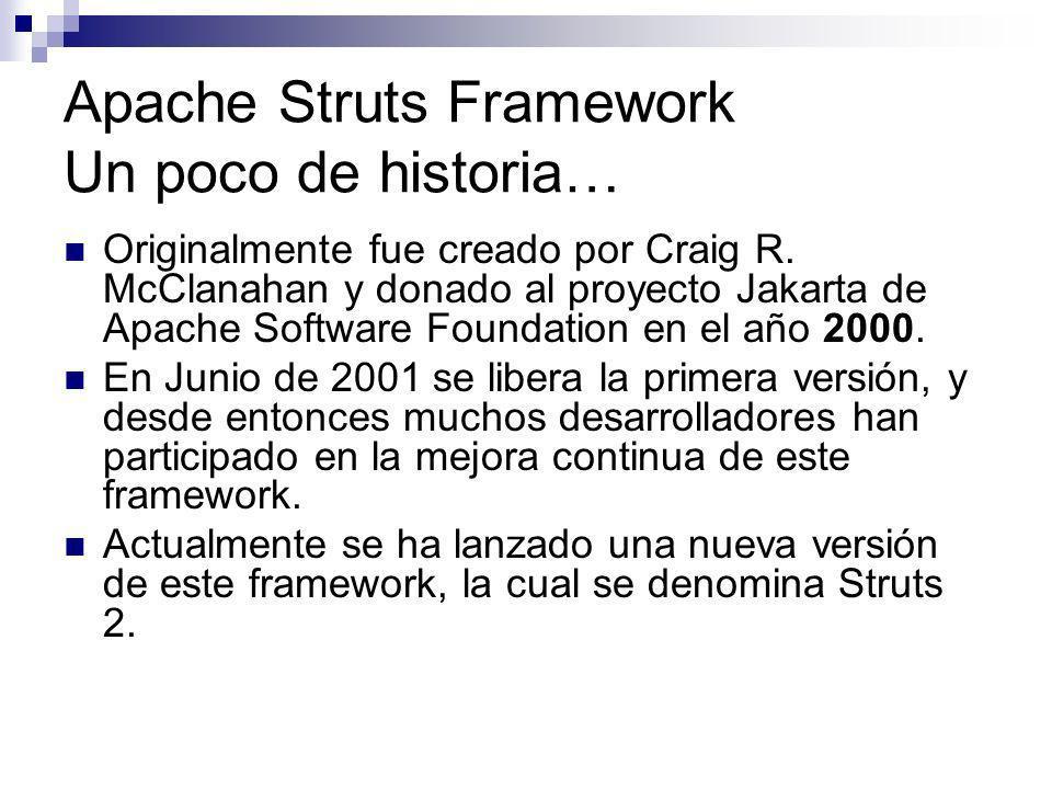 Apache Struts Framework Un poco de historia…