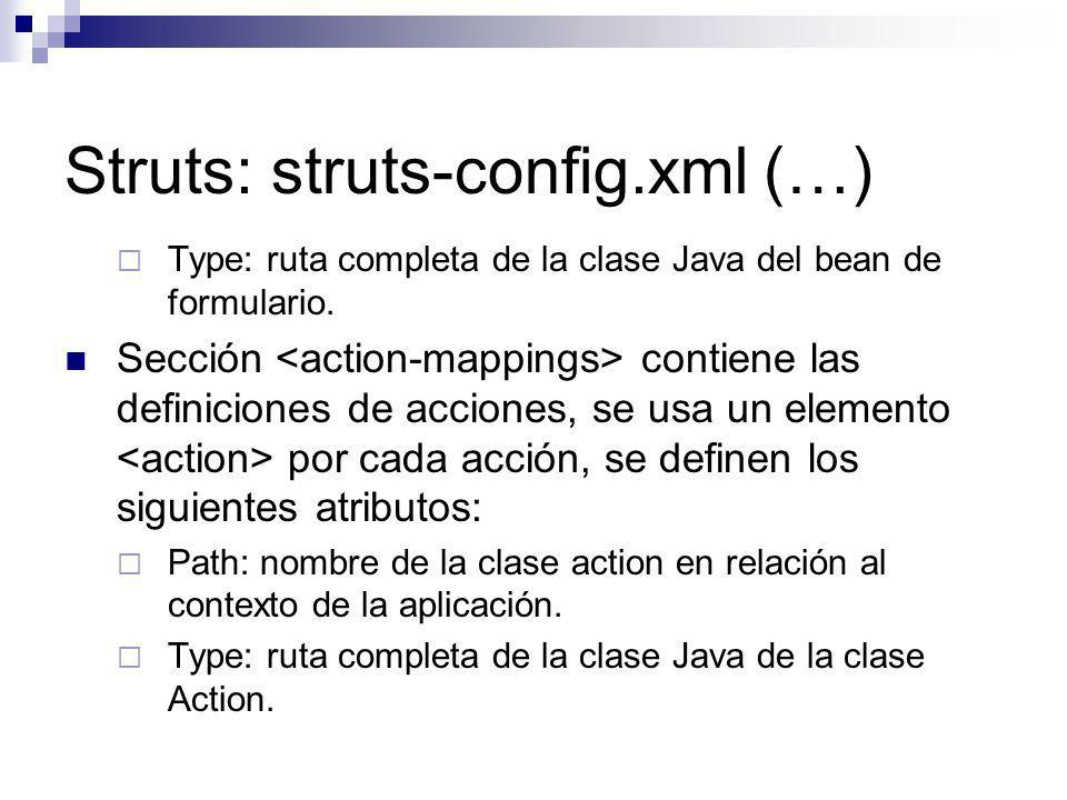 Struts: struts-config.xml (…)