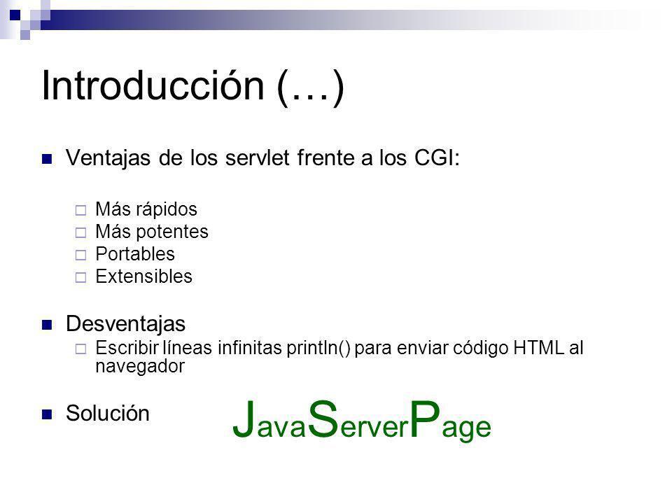 JavaServerPage Introducción (…)