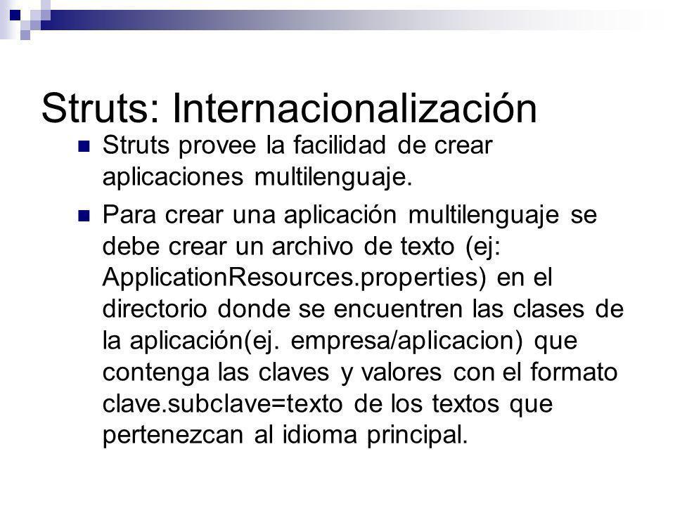 Struts: Internacionalización