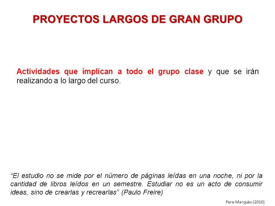 PROYECTOS LARGOS DE GRAN GRUPO